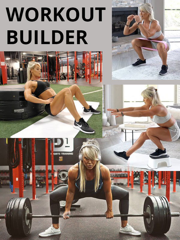 Holly Baxter's workout builder
